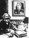 Caricature Marx & Stalin